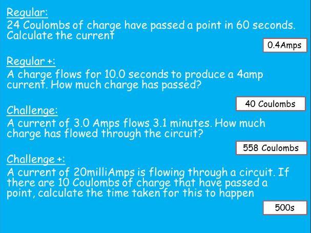 AQA GCSE P3 Equation Questions