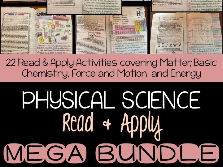 Physical Science Read and  Apply MEGA BUNDLE
