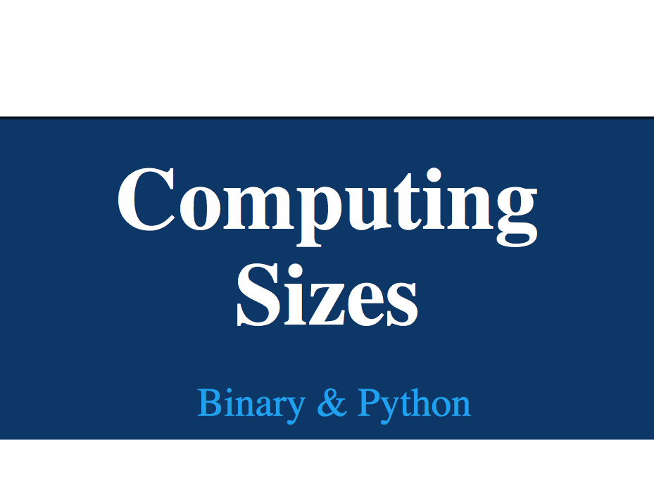 Computing Sizes (lesson 1 of 4)