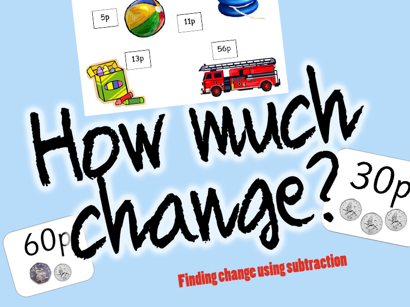 Finding Change Using Subtraction