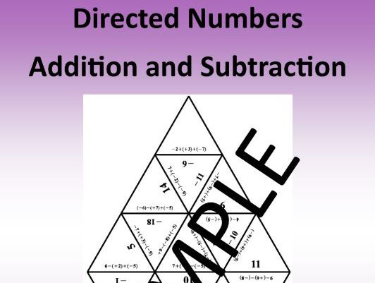 Directed Numbers:  Addition and Subtraction – Math Puzzle