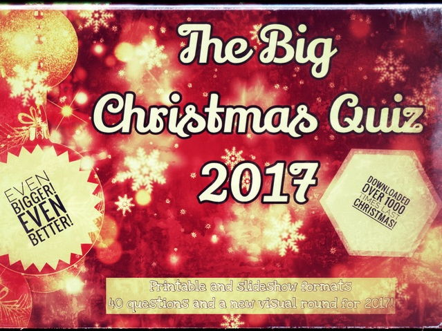 Christmas Quiz 2017. Slideshow Edition