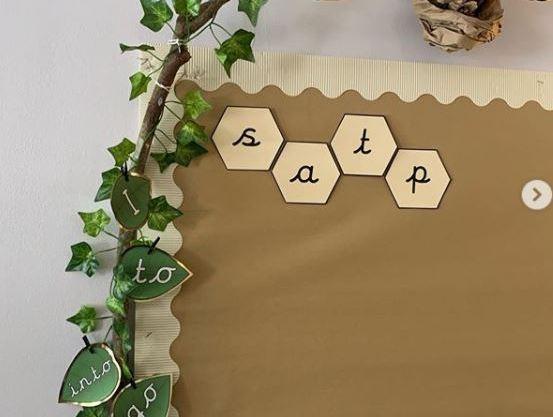 Hexagon Phase 3 Graphemes  phonics display