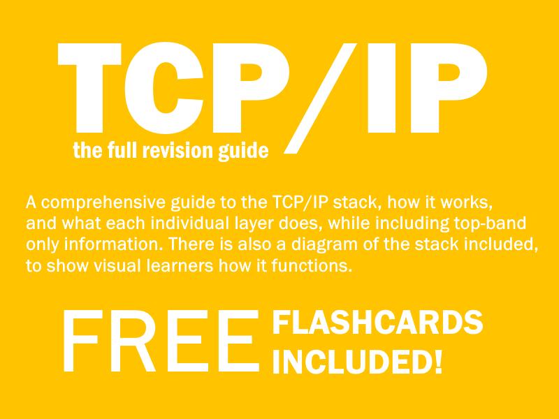 GCSE Computing 9-1 Networking: TCP/IP