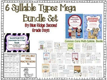 6 Syllable Type Bundle: Games, Books, Activities & More