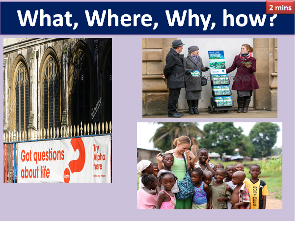 AQA RELIGIOUS STUDIES:  CHRISTIAN PRACTICES: MISSION AND EVANGELISM