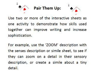 Writing Skills - Interactive Worksheets