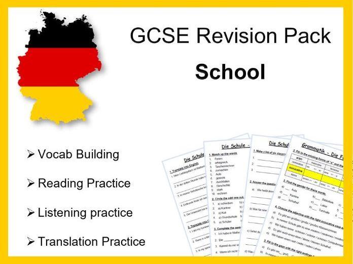 GCSE Revision Pack - Meine Schule - School