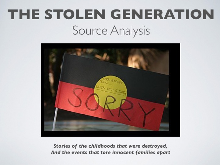 Stolen Generation Source Analysis PPT