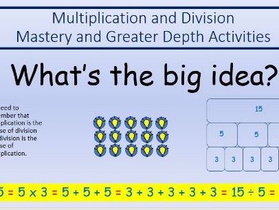 Multiplication and Division Mastery Activities Including Greater Depth for Year 2