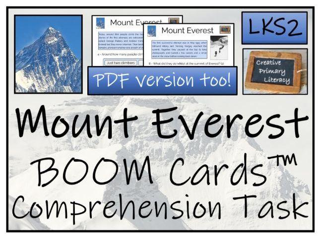 Mount Everest LKS2 BOOM Cards™ Reading Comprehension Activity