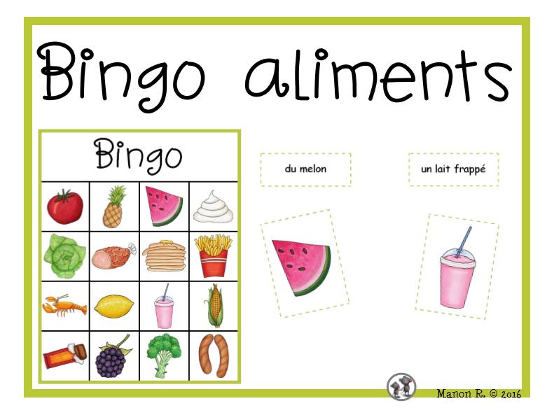 Bingo des aliments  (Food Bingo)