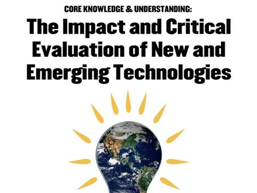 WJEC GCSE KS4 New Design & Technology Teacher Presentation Core New Emerging Technologies Term