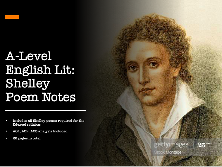 A Level English Literature Edexcel 'The Romantics' Percy Shelley Poems Notes