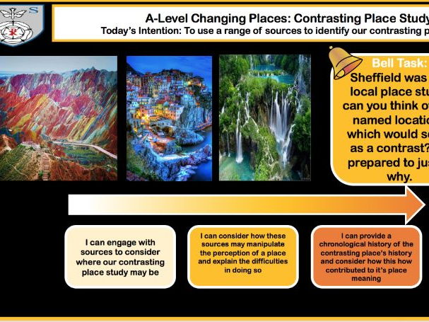 **NEW AQA A-LEVEL CHANGING PLACES**  CONTRASTING PLACE LESSON 1