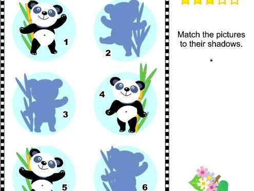 Shadow Game with Panda Bears