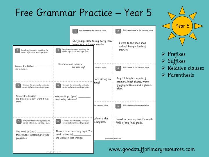 Grammar Practice - Year 5