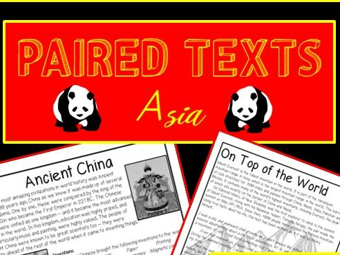 Text comparison - Asia - Literal, Meaning, Inference and Summary questions