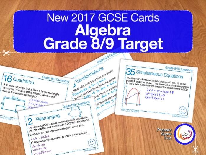 Algebra - New 9-1 GCSE Maths Grade 8/9 target