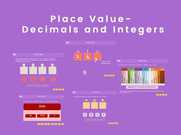 Place Value -(Integers and Decimals ), Year 7