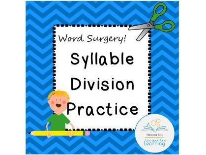 Syllable Division Practice (Word Surgery) for Second Grade Review