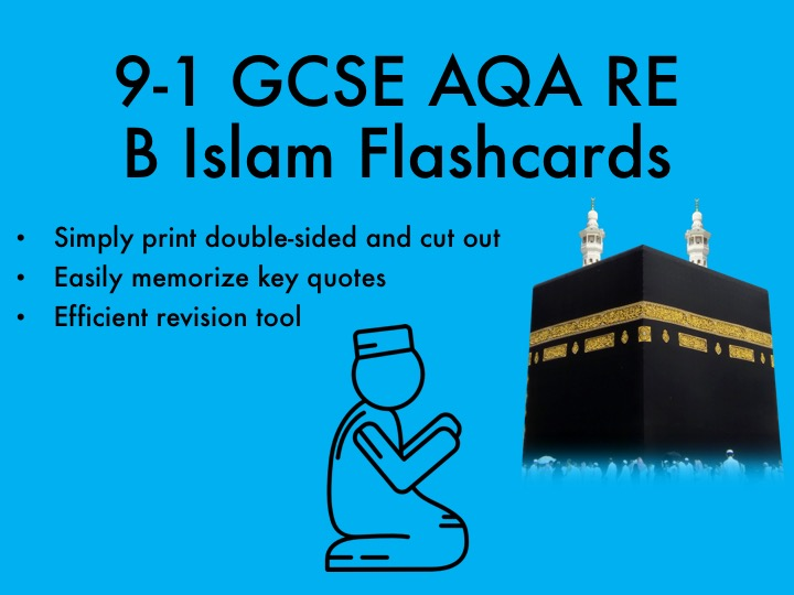 9-1 GCSE AQA RE B Islam Flashcards
