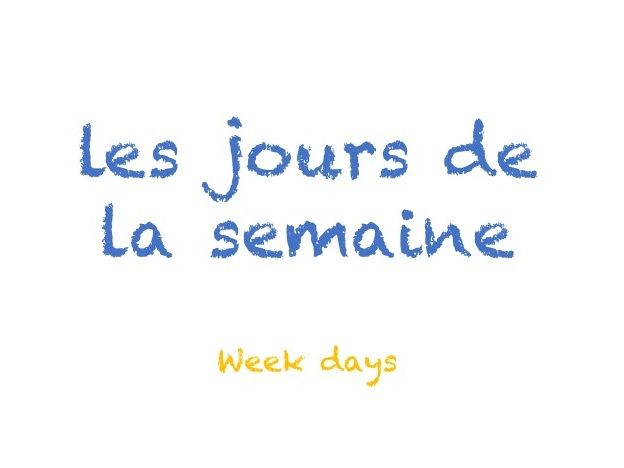 Days of the week in French