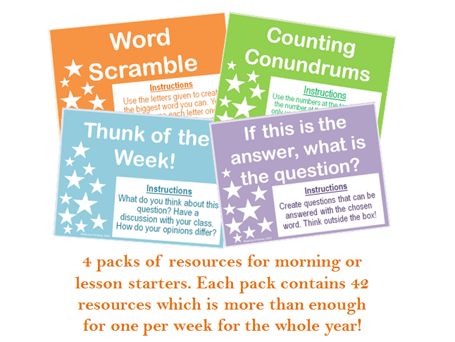 Primary Daily and Lesson Starters Pack