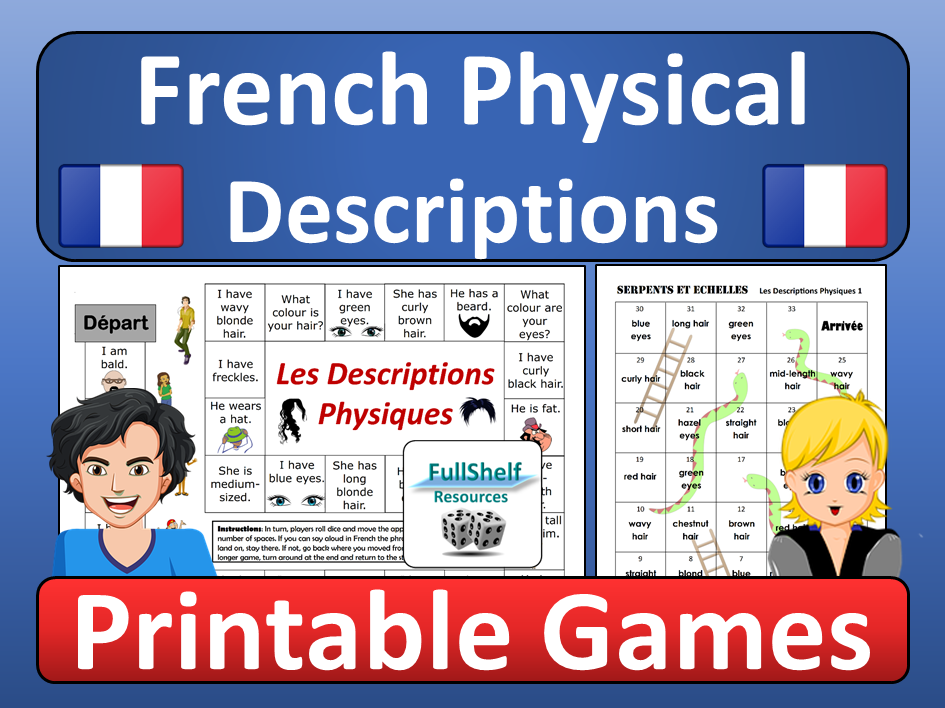 French Physical Descriptions Games