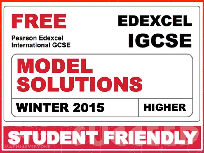 Exam Paper Solutions (IGCSE Winter 2015)