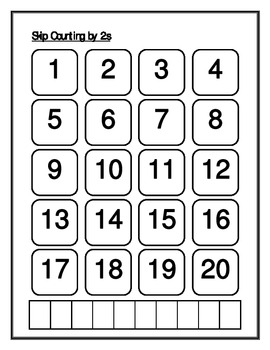 Skip counting worksheet set