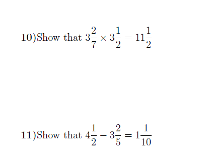 Fractions (GCSE-style Questions)