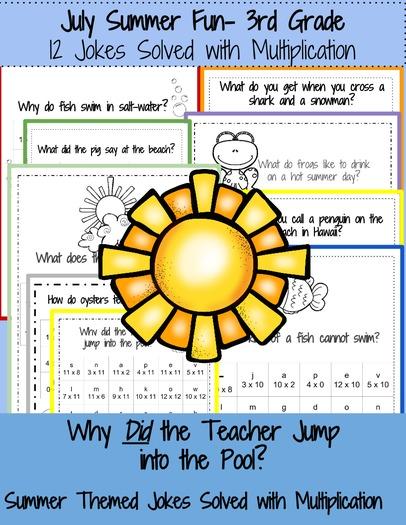 3rd Grade Math: Summer Jokes Solved with Multiplication