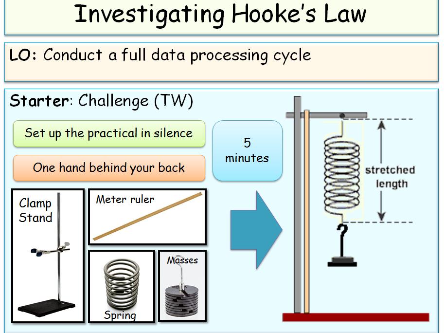 Open Lesson 6: Hooke's law worksheet - Lesson 1
