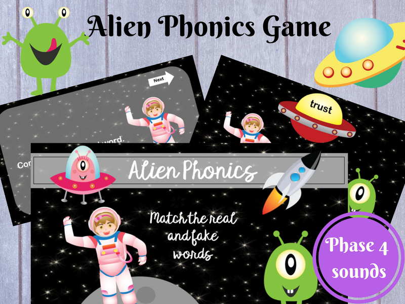 Alien Phonics Game: Phase 4 sounds