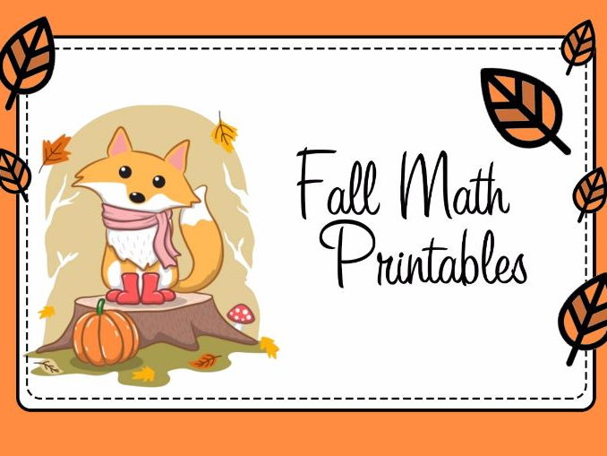 Fall Math Printables