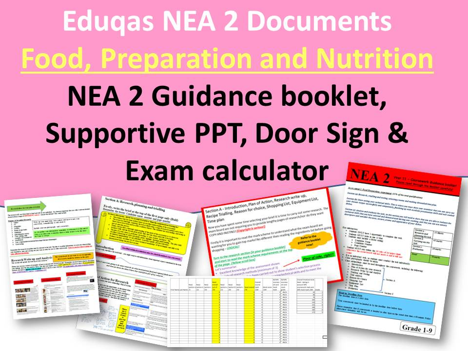 Eduqas Food NEA 2 Guidance Documents