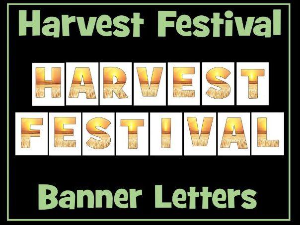 Harvest Festival Banner Letters