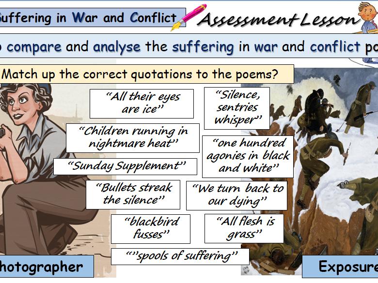 Comparison Lesson 'Exposure' and 'War Photographer'