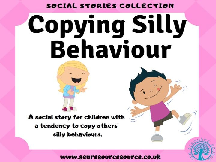 Copying Silly Behaviour Social Story