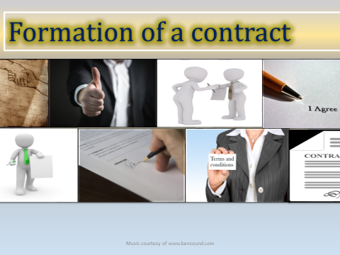 Law level 3 ,Power Point presentation , contract law lesson on acceptance.