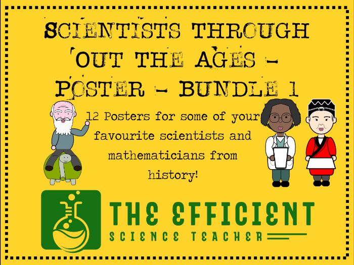 Scientists Throughout The Ages - A3 Poster Files - Bundle 1
