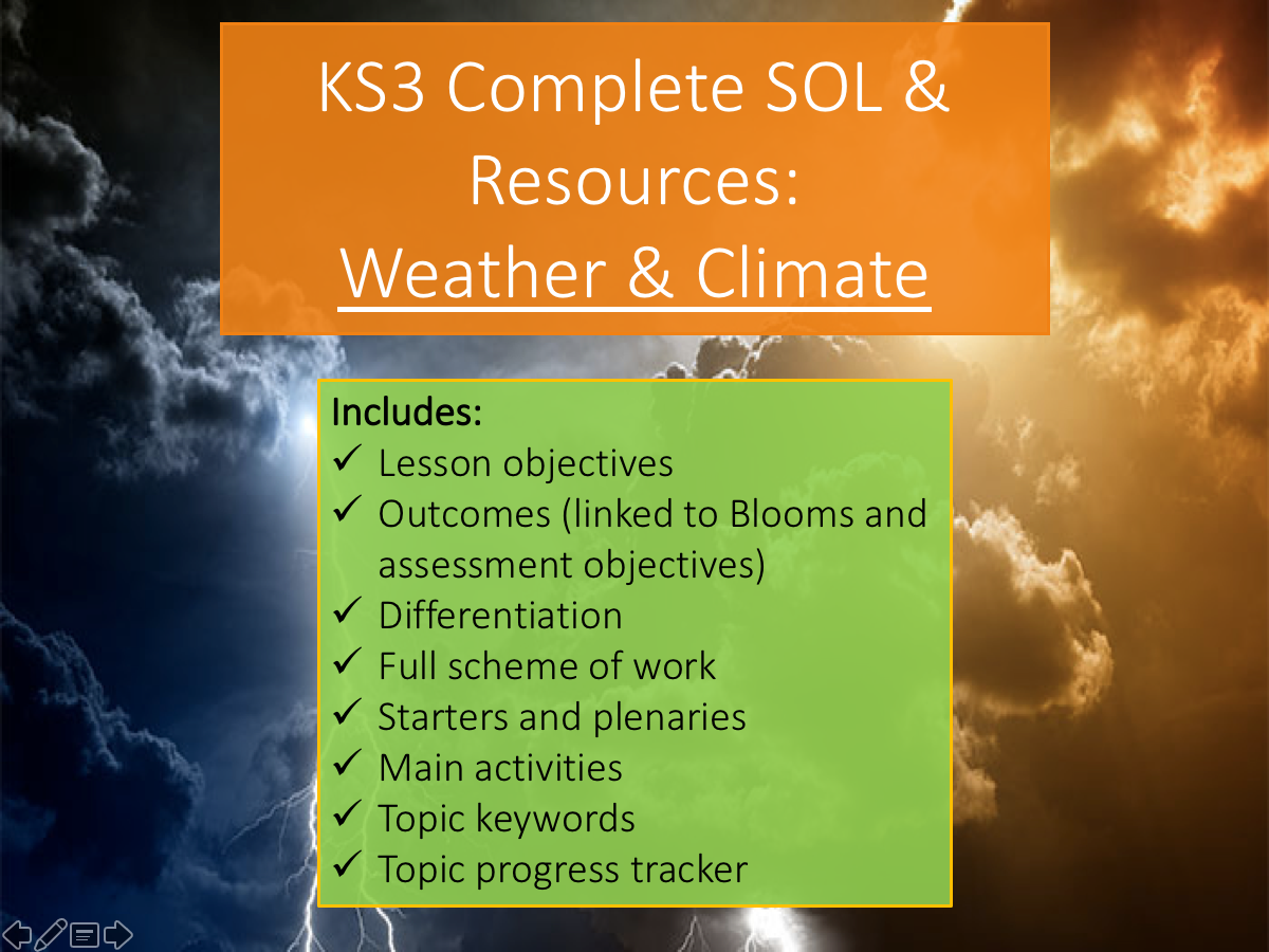 KS3 Weather and Climate Complete SOL and Resources