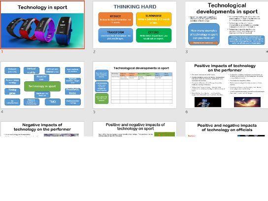 Technology in sport GCSE PE