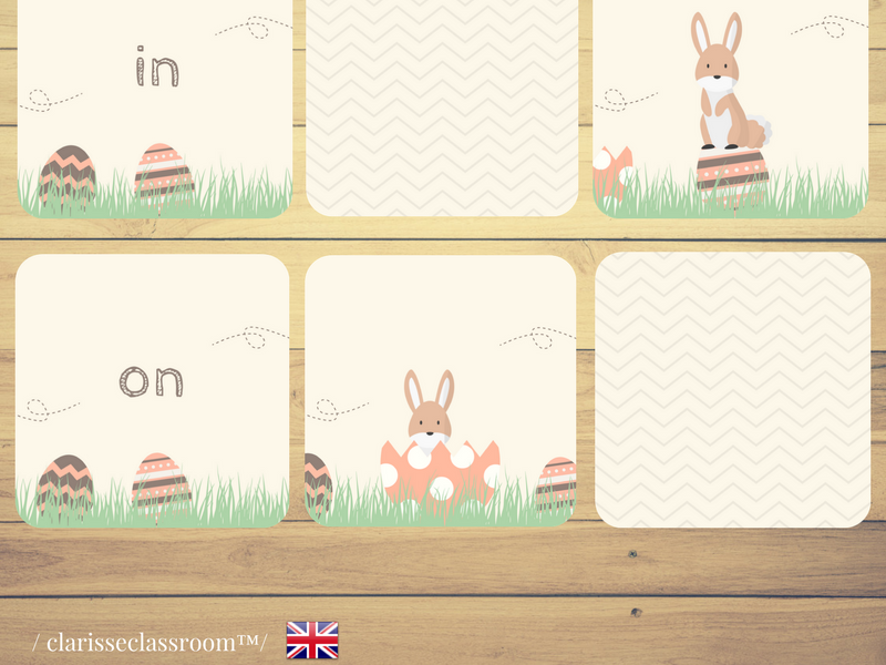Easter Prepositions Memory Game⎜ Where is the Easter bunny ? ⎜Matching Game⎜Prepositions of Place