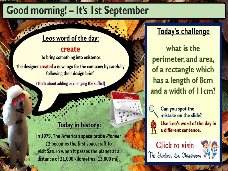 Morning Challenge Slides (September)