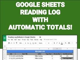 Digital Reading Logs (Editable in Google Sheets)