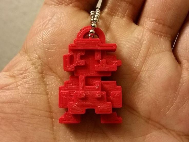 3D Printed Keyring - Sketchup