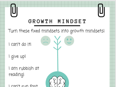 3X Growth Mindset Activities