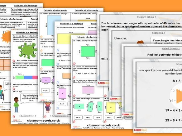 Year 4 Perimeter of a Rectangle Autumn Block 3 Step 3 Lesson Pack